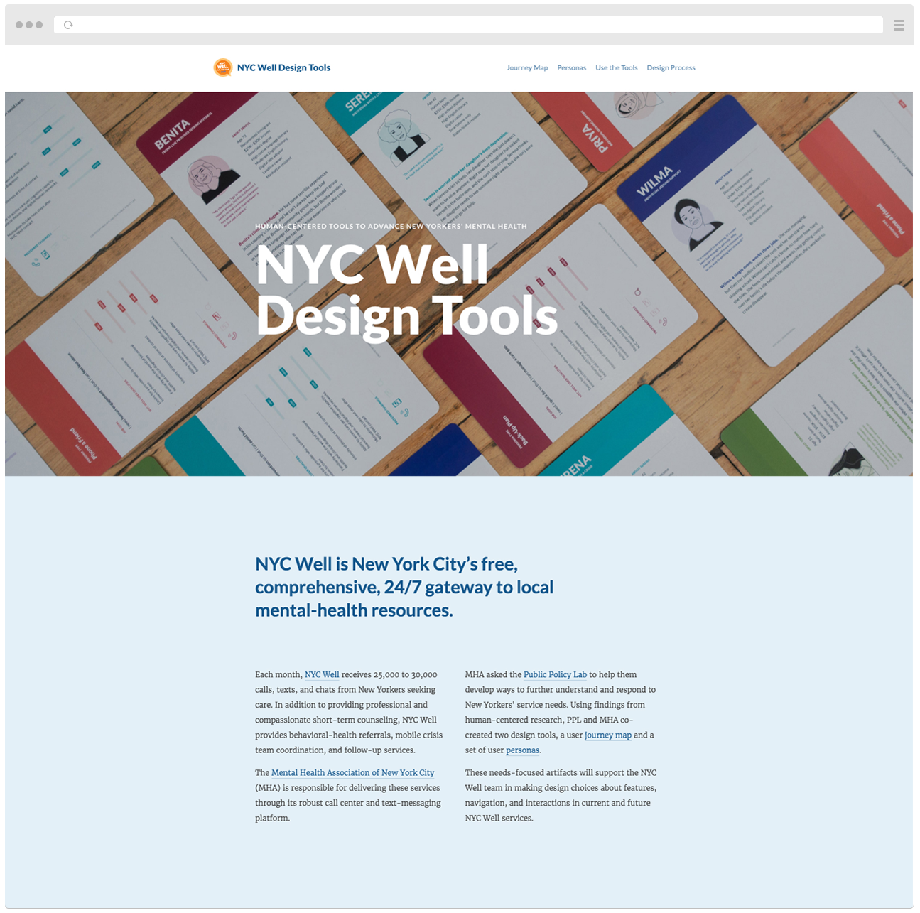 Design Tools For Mental Health Public Policy Lab